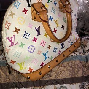 Louis Vuitton Bags - Louis Vuitton White Multi Color Alma